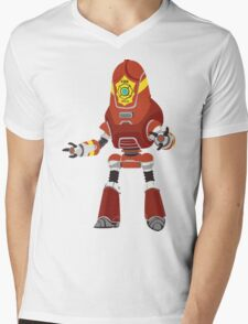 PROTECTRON: FIREMAN Mens V-Neck T-Shirt