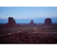 Twilight At Monument Valley Photographic Print