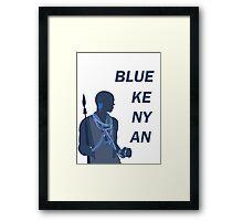 Blue Kenyan Framed Print