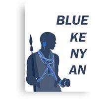 Blue Kenyan Canvas Print
