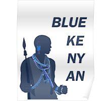 Blue Kenyan Poster