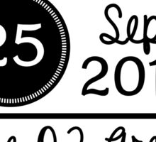 25th September - The O2 Arena OTRA Sticker