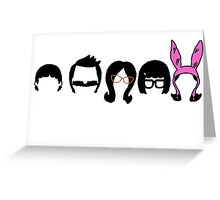 Bobs Burgers Belcher Line Up Greeting Card