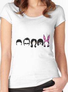 Bobs Burgers Belcher Line Up Women's Fitted Scoop T-Shirt