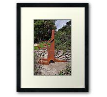 Young Gun,Sculptures By Sea,Australia 2015 Framed Print