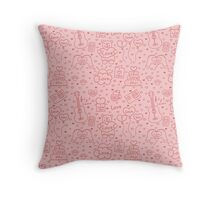 Seamless romantic background of different message of love Throw Pillow