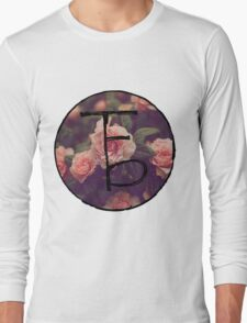 the front bottoms floral logo Long Sleeve T-Shirt