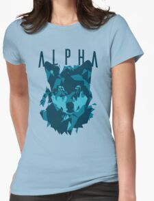 Alpha wolf Womens Fitted T-Shirt