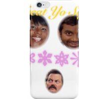 Treat Yo Self: Rare Ron Swanson Edition iPhone Case/Skin