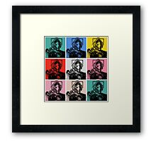 Cybermen Warhol Framed Print