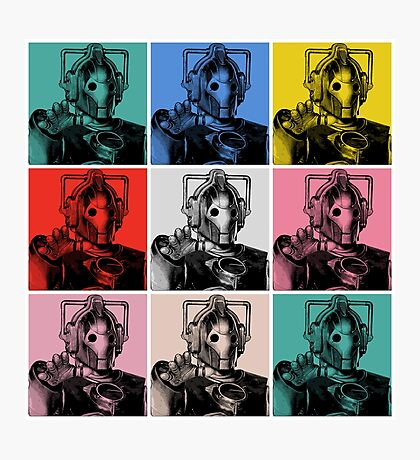 Cybermen Warhol Photographic Print