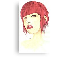 The Girl in Red Canvas Print