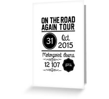 31th October - Motorpoint Arena OTRA Greeting Card