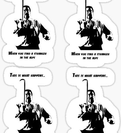 A stranger in the alps (4 stickers) Sticker