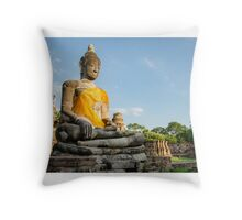 Ayutthaya (Thailand), Buddha statues in an old temple ruins1 Throw Pillow