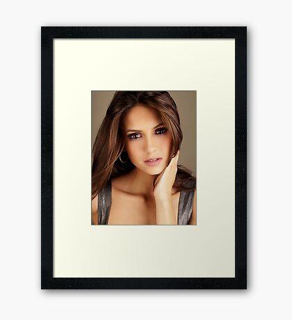 Beautiful Nina Dobrev 3 Framed Print