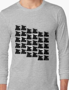 Staffy Dog's head is on repeat Long Sleeve T-Shirt