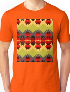 Simplified red roses pattern. Unisex T-Shirt