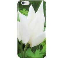 Pure White Moroccan Flower iPhone Case/Skin