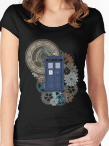 Traveling through the gears of Time  Women's Fitted Scoop T-Shirt