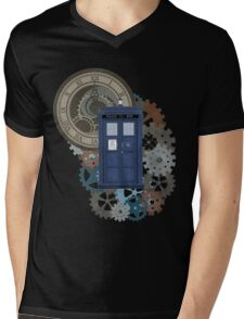 Traveling through the gears of Time  Mens V-Neck T-Shirt