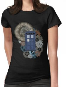 Traveling through the gears of Time  Womens Fitted T-Shirt