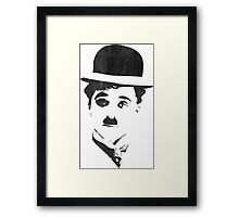 Charlie Chaplin - Leather Framed Print