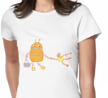 Robomama Robot Mother And Child Womens Fitted T-Shirt