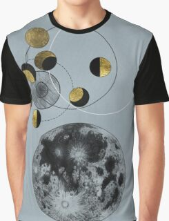Phases of the Blue Moon Graphic T-Shirt