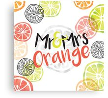 Mr and Mrs Orange Canvas Print