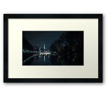 Zurich by the river Framed Print