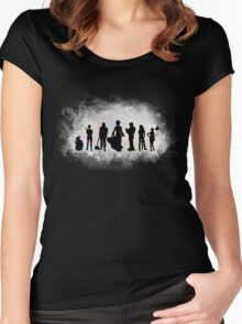 The Endless Silhouettes - Colorful Cosmos Women's Fitted Scoop T-Shirt
