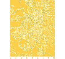 Jerusalem map yellow Photographic Print