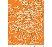 Jerusalem map orange Photographic Print