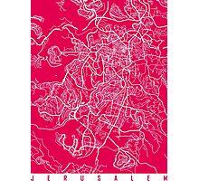 Jerusalem map raspberry Photographic Print