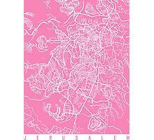 Jerusalem map pink Photographic Print