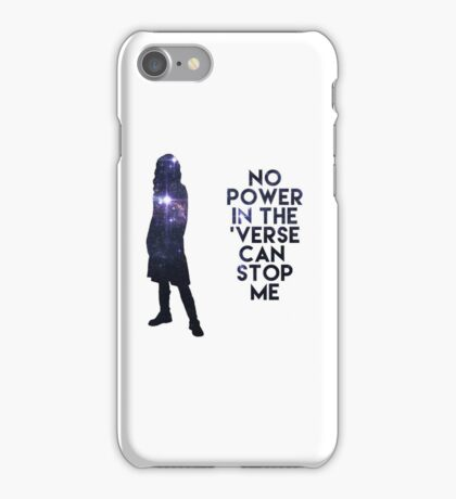 River Tam - No Power in the 'Verse iPhone Case/Skin