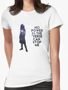 River Tam - No Power in the 'Verse Womens Fitted T-Shirt