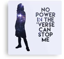 River Tam - No Power in the 'Verse Metal Print