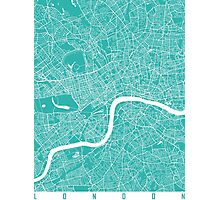 London map turquoise Photographic Print