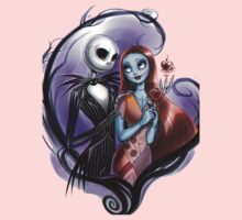 Romantic Jack Skellington and Sally One Piece - Long Sleeve