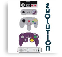 Nintendo Evolution Canvas Print