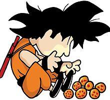 Son Goku x Schroeder (Peanuts) by S3NTRYdesigns