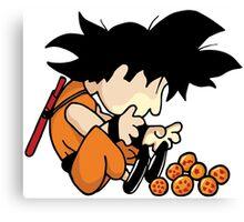 Son Goku x Schroeder (Peanuts) Canvas Print