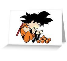 Son Goku x Schroeder (Peanuts) Greeting Card