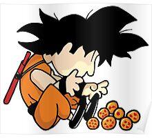Son Goku x Schroeder (Peanuts) Poster