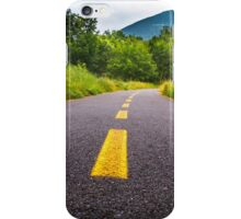 Cycle lane with yellow path iPhone Case/Skin