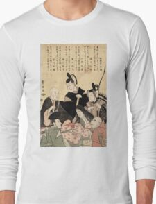 An updated version of the six poets - Toyokuni Utagawa - 1795 Long Sleeve T-Shirt