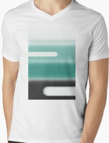Green Abstract Mens V-Neck T-Shirt