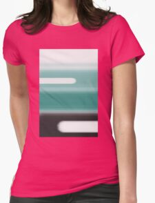 Green Abstract Womens Fitted T-Shirt